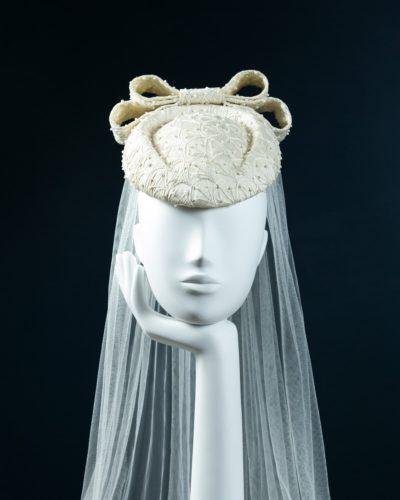 Bridal Beaded Beret Percher