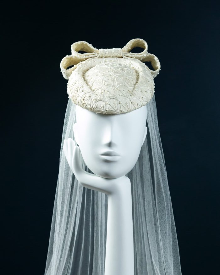 Bridal Beaded Beret Percher