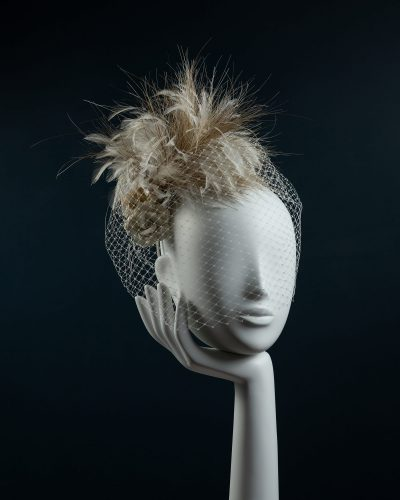 Ceramic Rose Feather Headdress