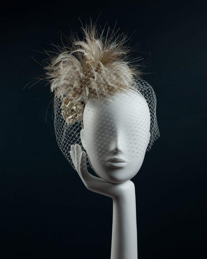 Ceramic Rose Feather Headdress