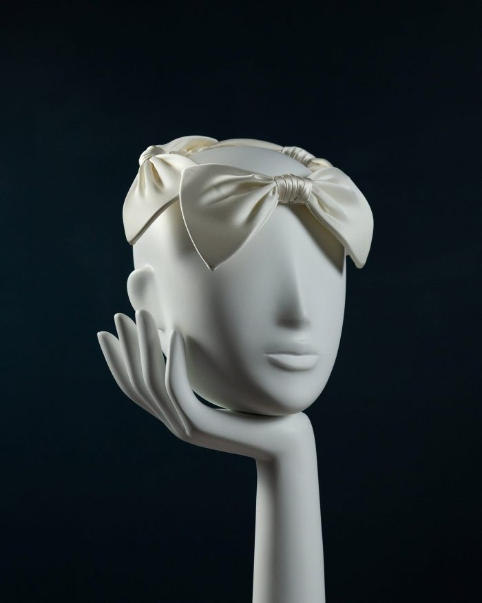 Silk Bow Crown Headdress