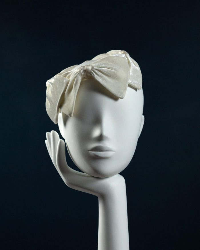 Velvet Bow Crown Headdress