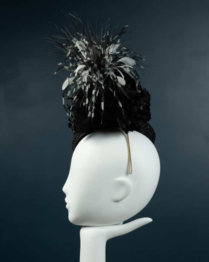 Black Sequin Beano Hat