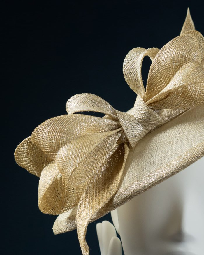 Gold Brim Down hat detail