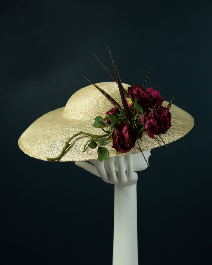 Natural Mushroom Brim Hat side view