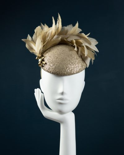 Gold Sequin Beret
