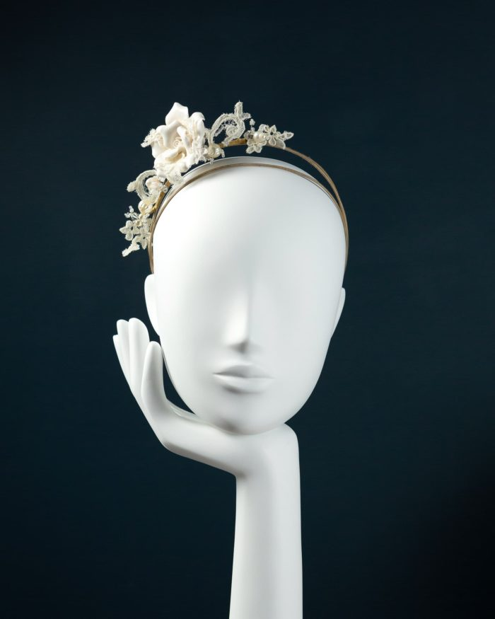 Ceramic Rose Tiara