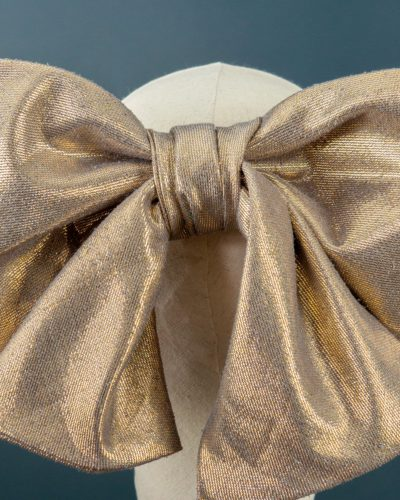 Gold Metallic Bow detail