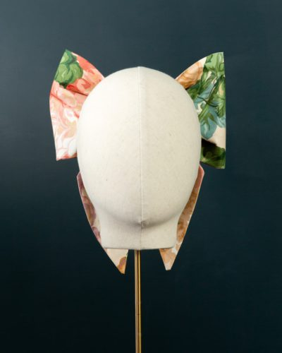 Pointed Chintz Bow hat