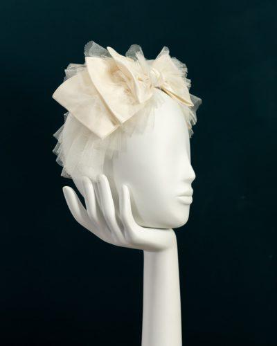 Taffeta Tulle Bow Headband